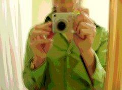 Autorretrato frente al espejo